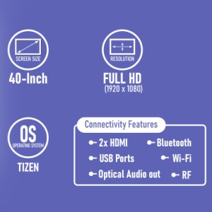 Samsung UA40N5200ARXXL 7-In-1 Smart TV Features