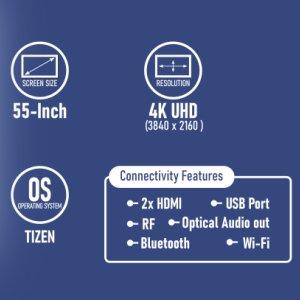 Samsung UA55TU7200 55 inches 4K UHD Smart TV features