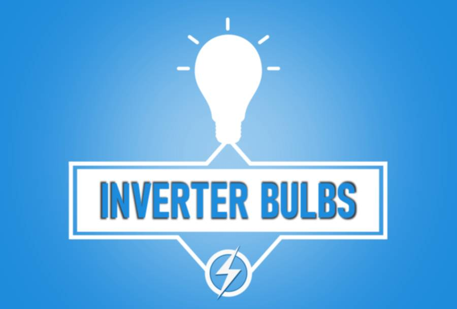 Inverter -rechargeable bulbs