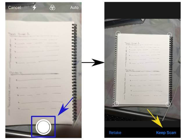 scanning using documents app